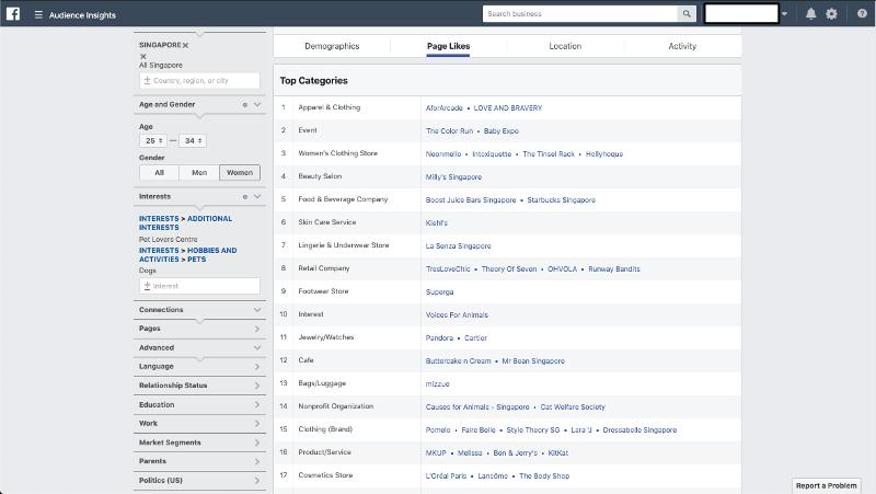 Facebook Audience Insights Female | Evolve & Adapt