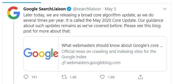 Google May 2020 Update