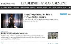 J C Sum Featured on The Business Times