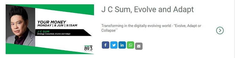 J C Sum Money FM 89.3 | Evolve & Adapt