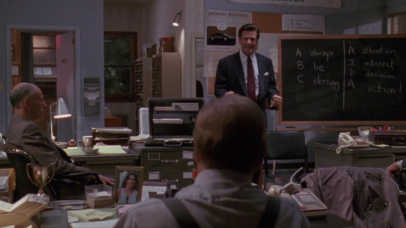 Scene from Glengarry Glen Ross About Sales Leads